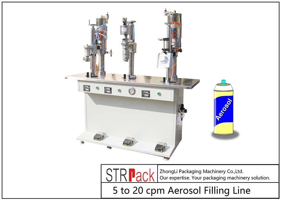 Makinë mbushëse aerosol gjysmë-automatike