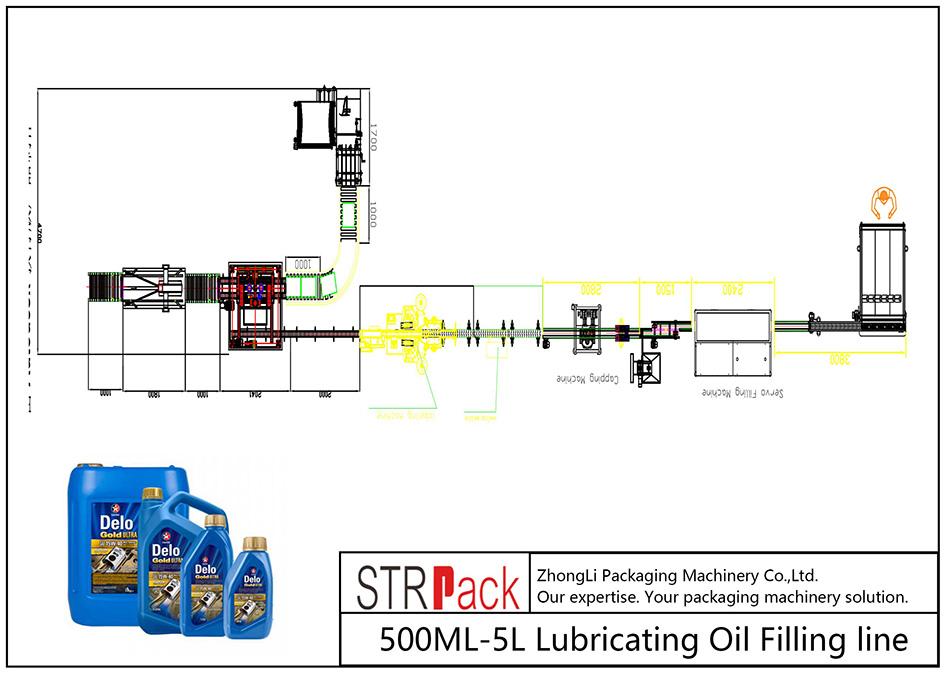 Linja automatike e mbushjes së vajit vajosës 500ML-5L