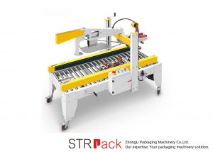 Shirita automatikë të shiritave ngjitës Makineri nënshkrimore të kutisë së kartonit