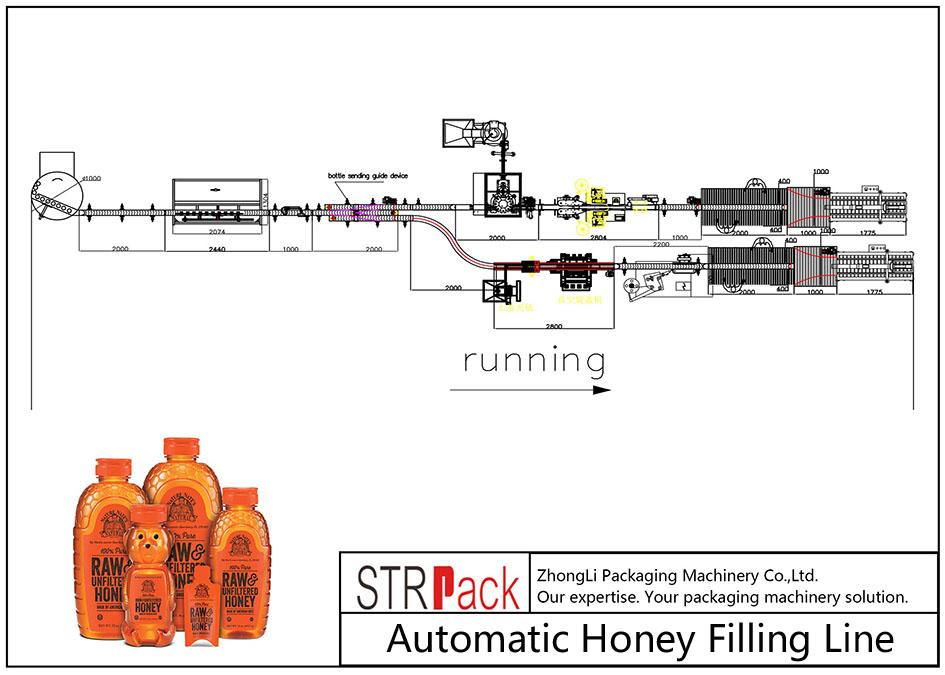 Linja automatike e mbushjes së mjaltit