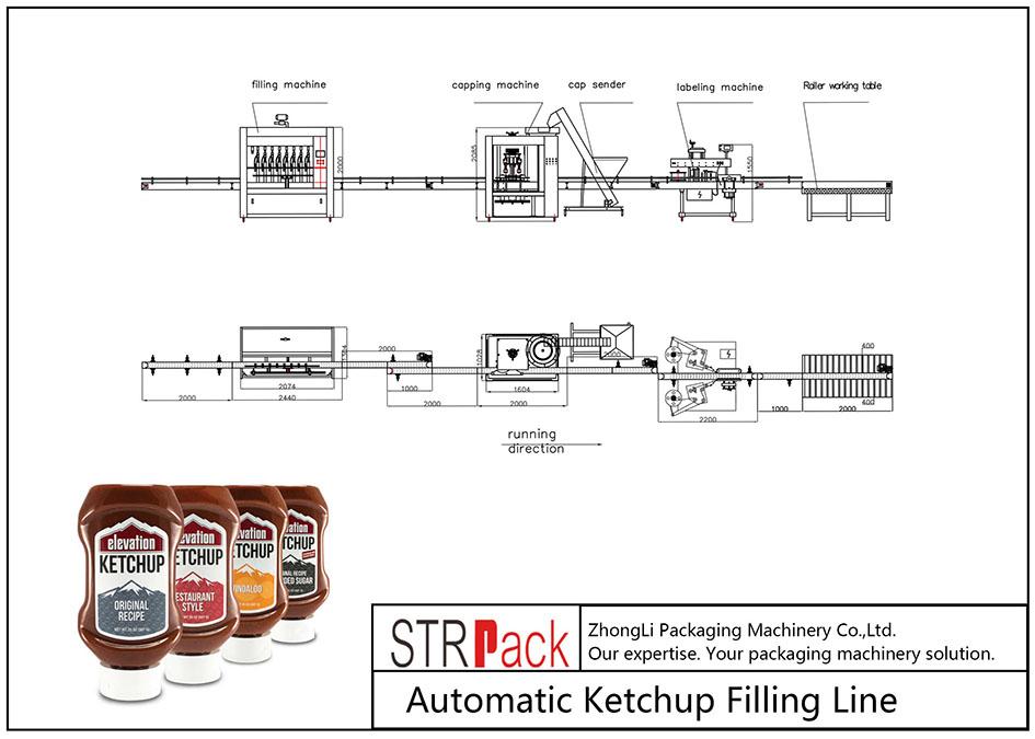 Linja automatike e mbushjes së ketchup