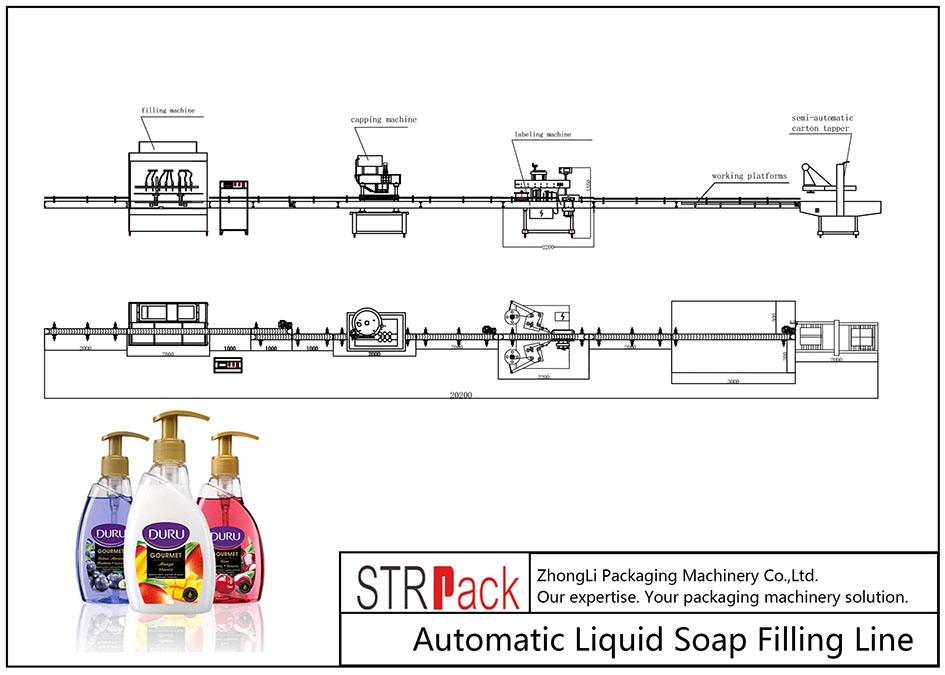 Linja automatike e mbushjes së sapunit të lëngshëm