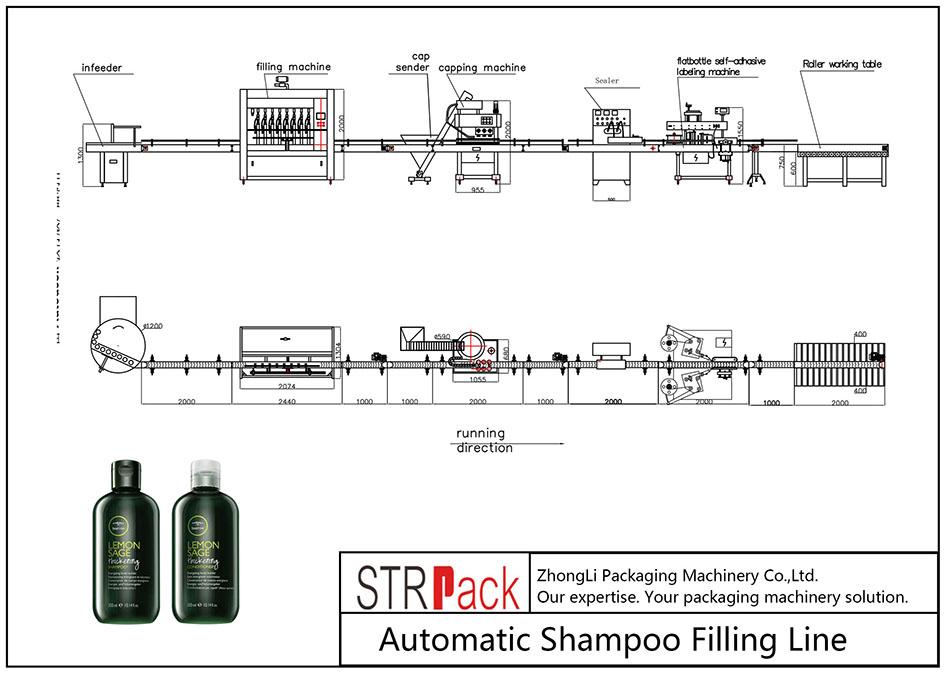 Linja automatike e mbushjes së shampos