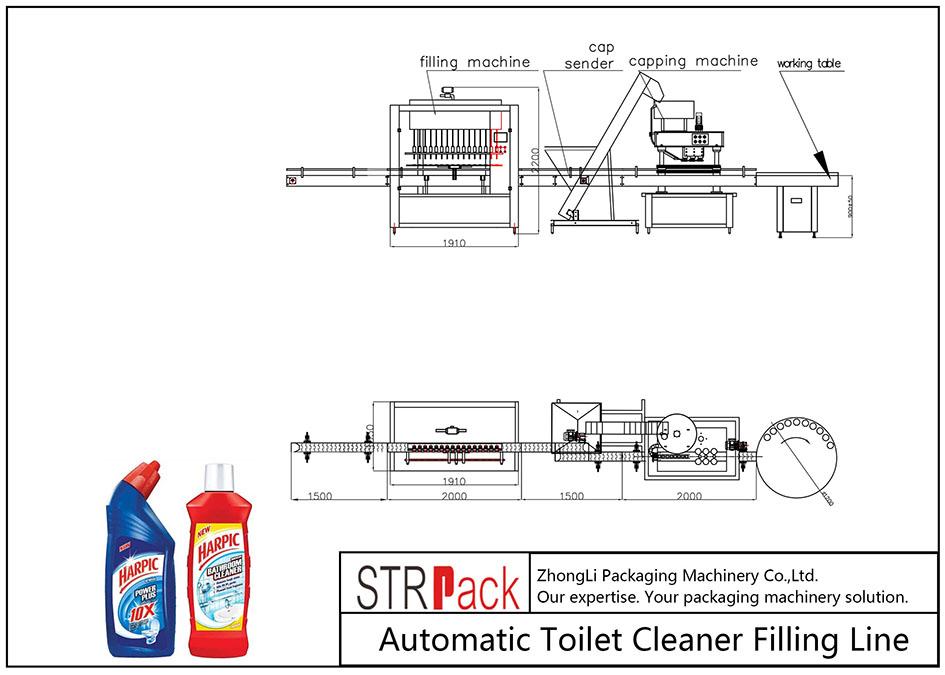 Linja e mbushjes automatike e pastrimit të tualeteve
