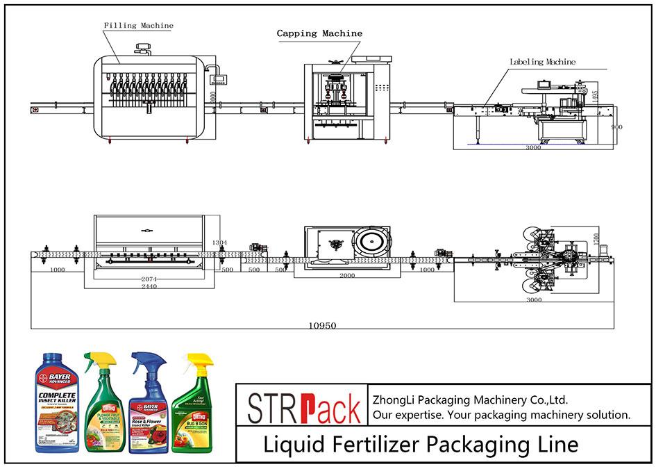 Linja e Paketimit Automatik të Plehrave të Lëngshëm