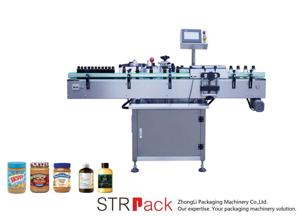 Makinë për etiketimin e shisheve Vetë vertikale me ngjitës vertikal